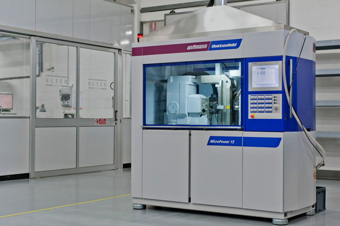 The MicroPower 15 press by Wittmann Battenfeld at Eltek's production facility in Casale Monferrato